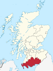 Map of South Scotland in Scotland Map